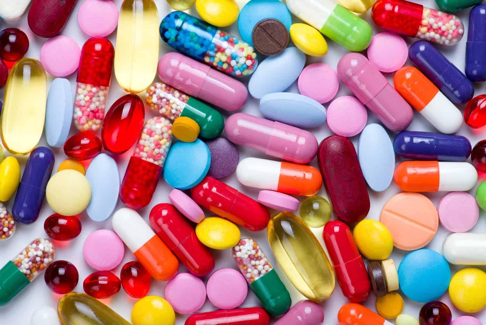 colorful medication pills