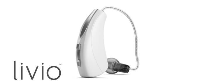 white starkey livio hearing aid
