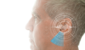 man with human hearing frequency
