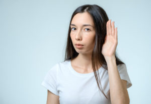 women hearing out of one ear