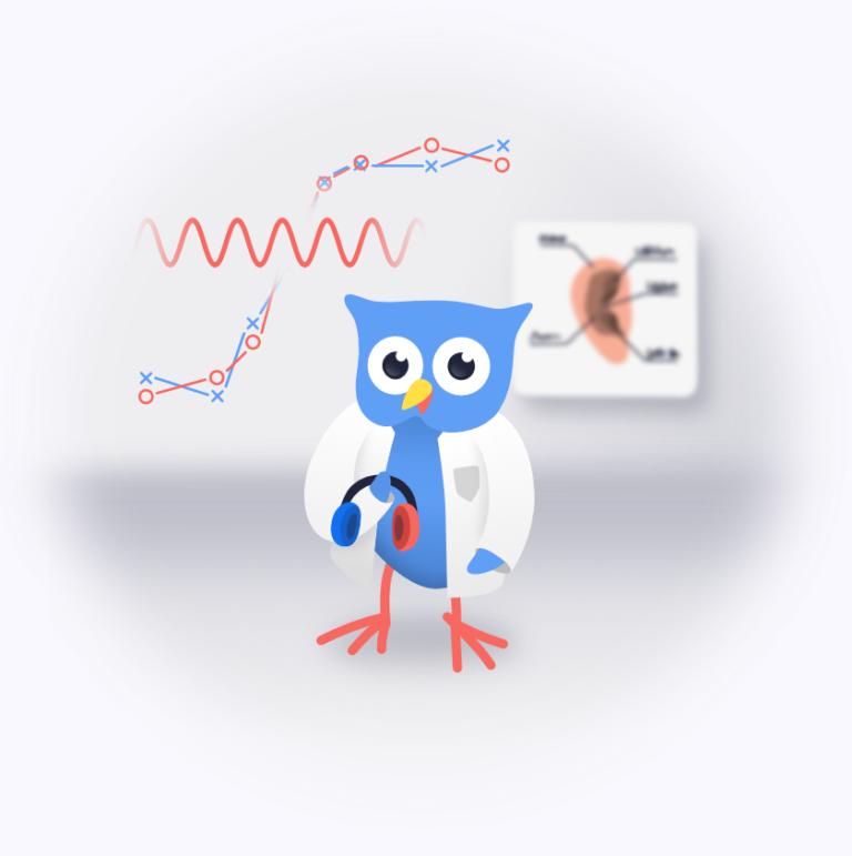 science owl illustration