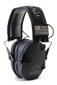 Image of black Walker Razor Slim Electronic Muffs.