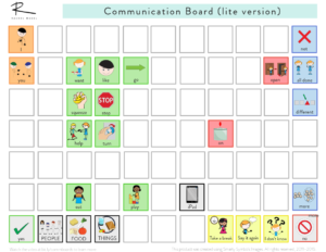 Image showing a communication board.
